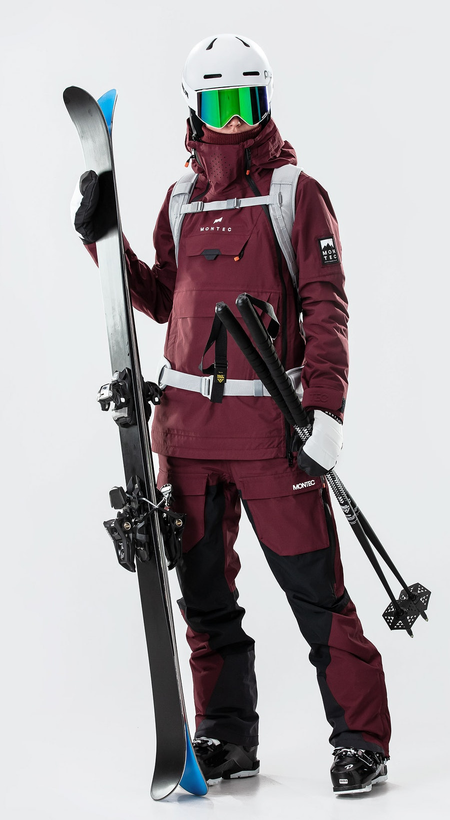 Montec Doom W Burgundy Ski Clothing Multi