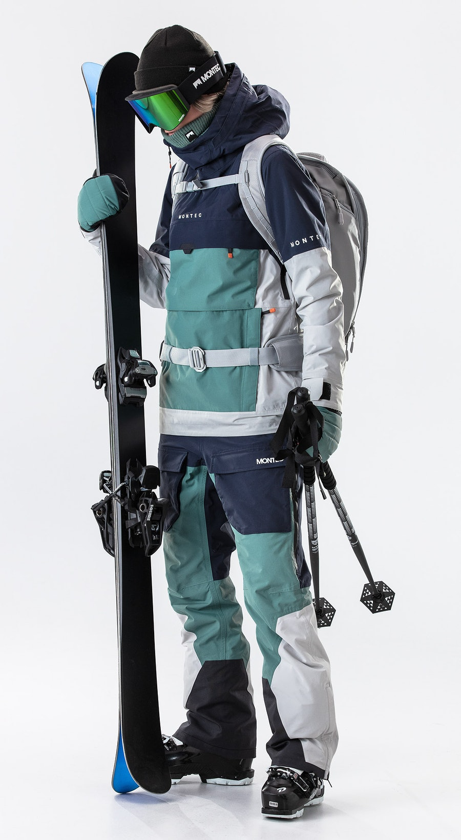 Montec Dune W Marine/Atlantic/Light Grey Vêtements de Ski Multi