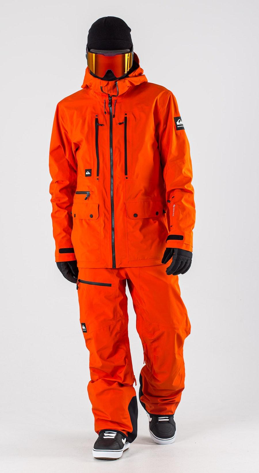 Quiksilver Black Alder 2L Gore-Tex Pureed Pumpkin Vêtements de Snowboard  Multi