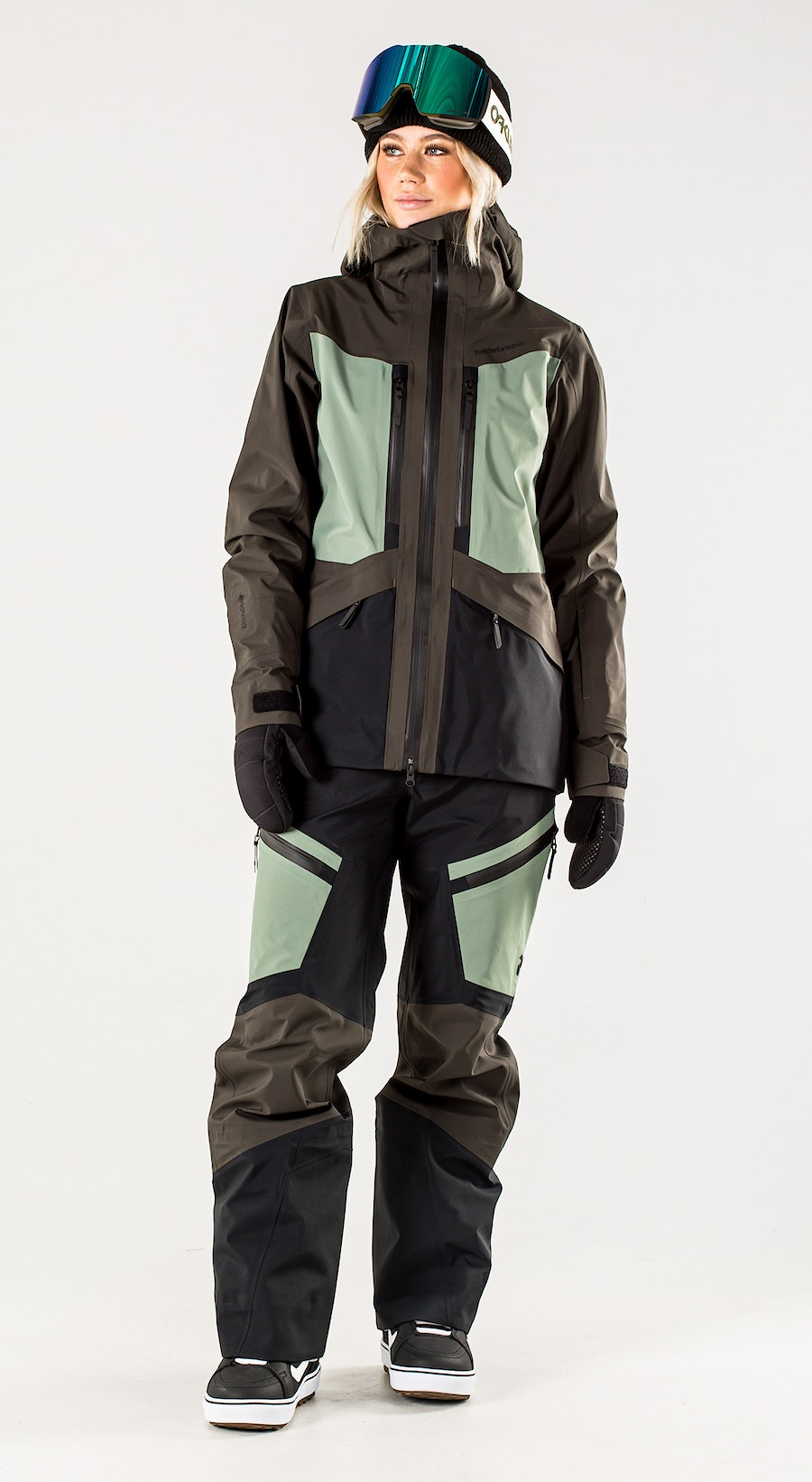 Peak Performance Gravity Coniferous Green Vêtements de Snowboard  Multi