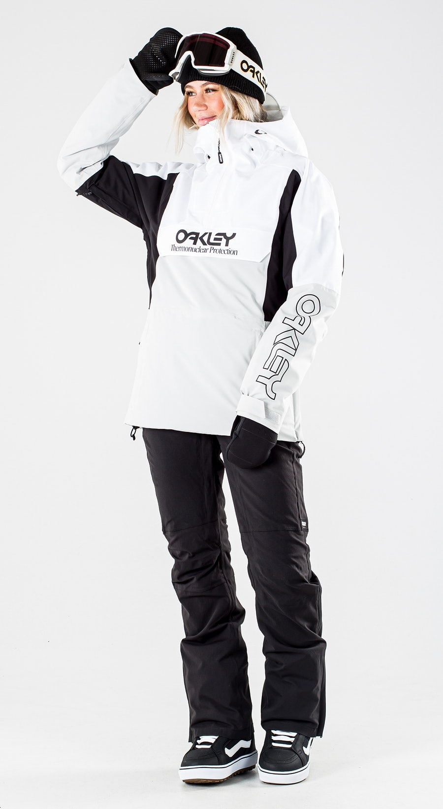 Oakley Insulated Anorak White/Grey Vêtements de Snowboard  Multi