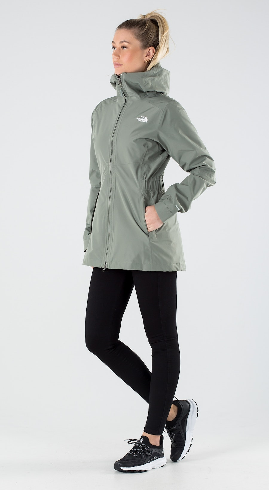 The North Face Hikesteller Parka Shell Agave Green Outfit Multi