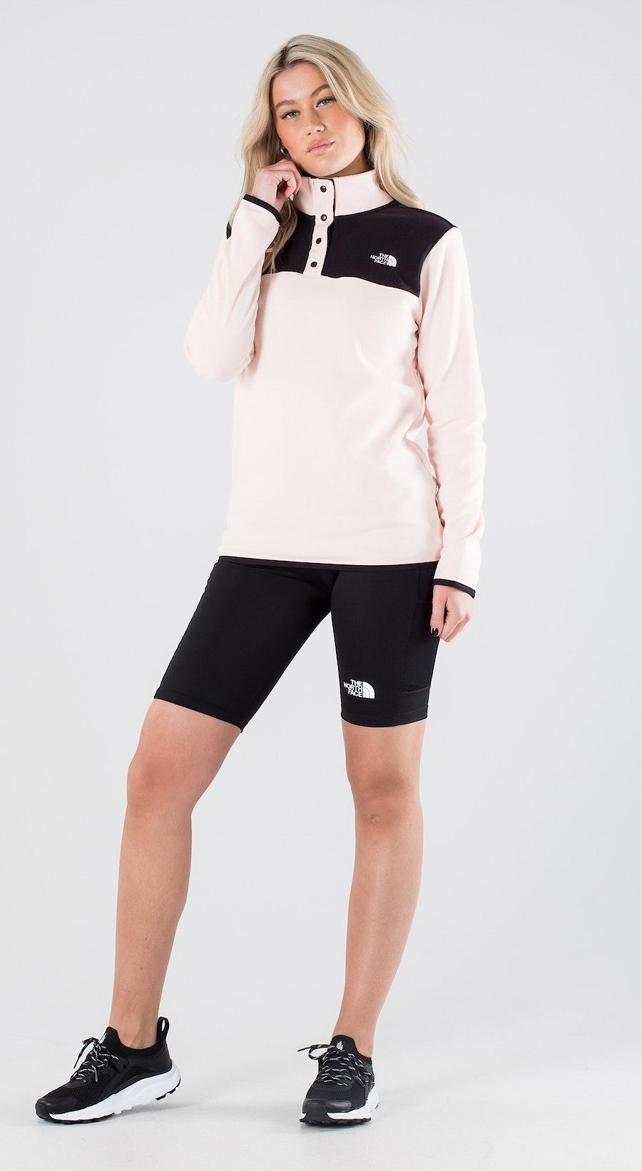 The North Face TKA Glacier Snap-Neck Pearl Blush/Tnf Black Outfit Multi