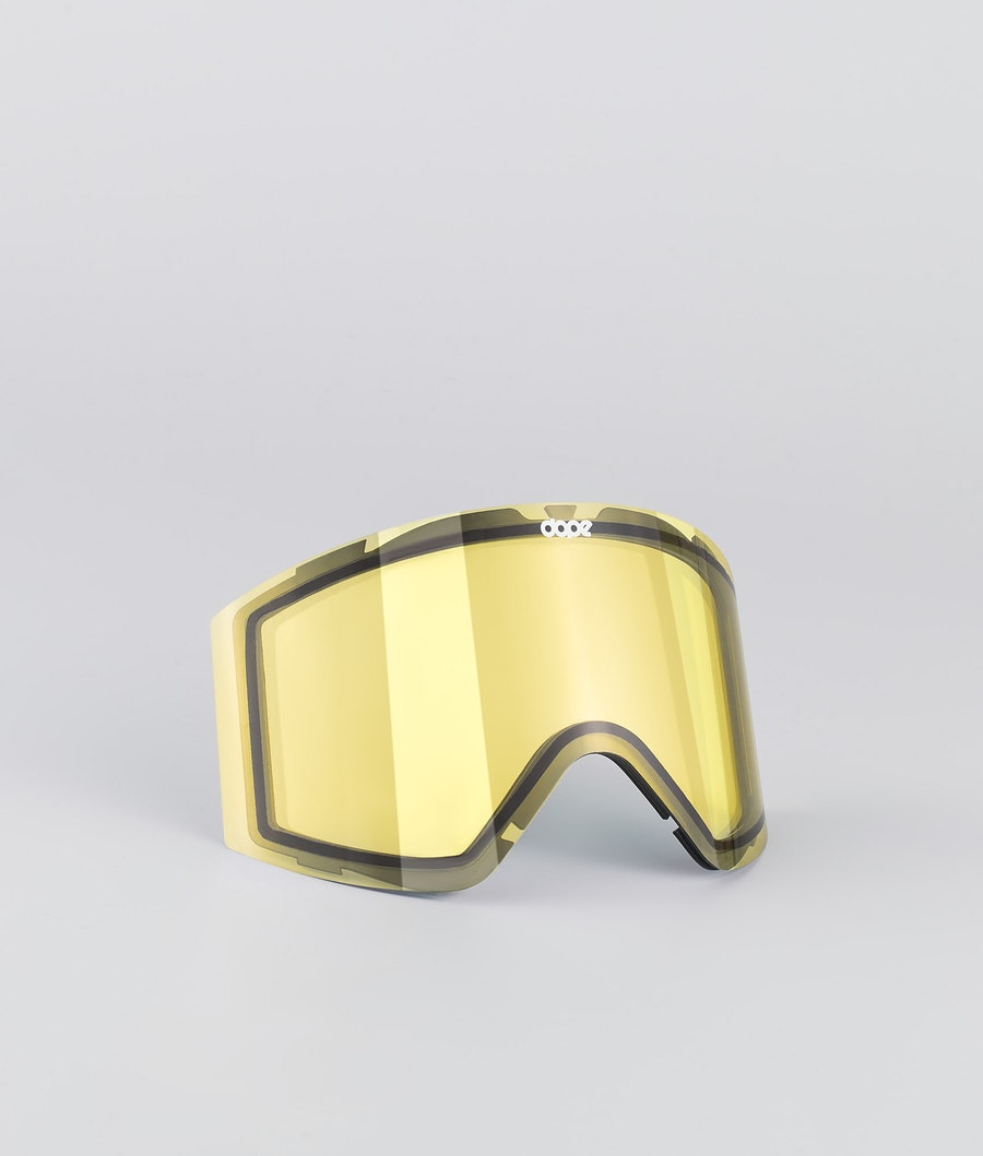 Dope Sight Medium Spare Lens Ecran de remplacement pour masque de ski Yellow