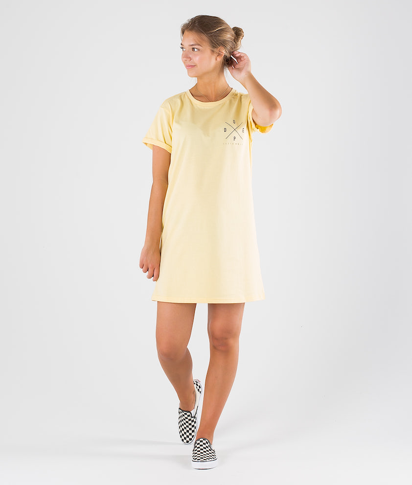 Dope 2X-up Dress Kjole Faded Yellow