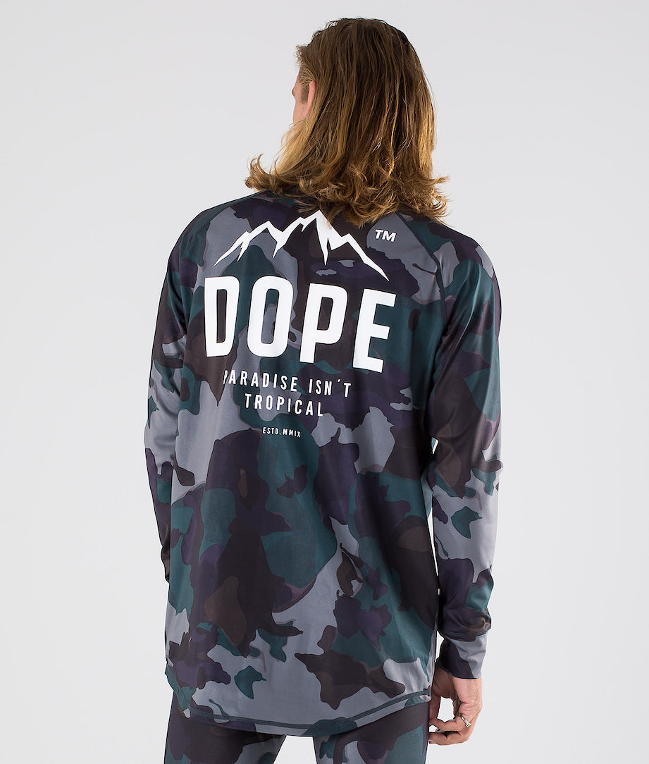 Dope Snuggle Paradise Tee-shirt thermique Grape Green Camo
