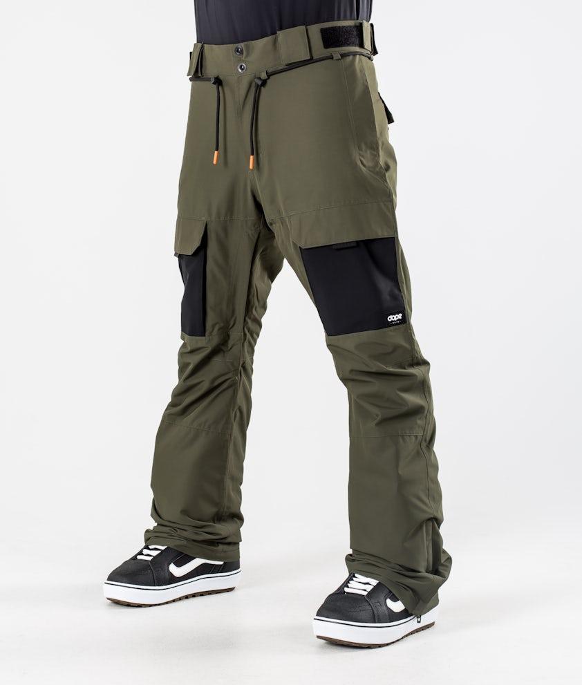 Dope Poise Snowboardhose Olive Green/Black