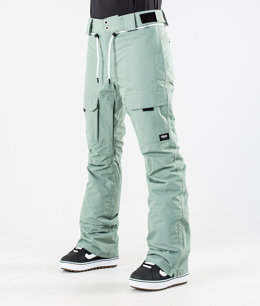 Dope Grace Snowboardbyxa Faded Green
