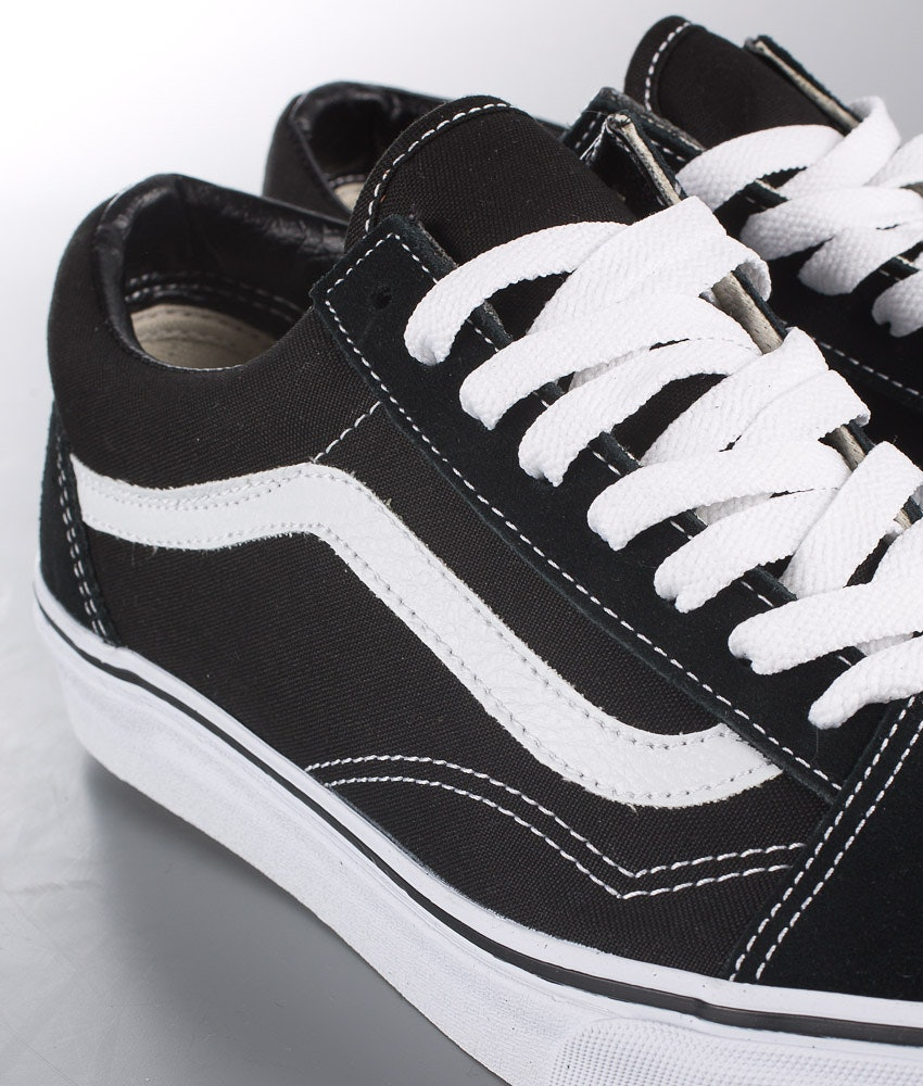 Vans Old Skool Unisex Sko Dame Black/White