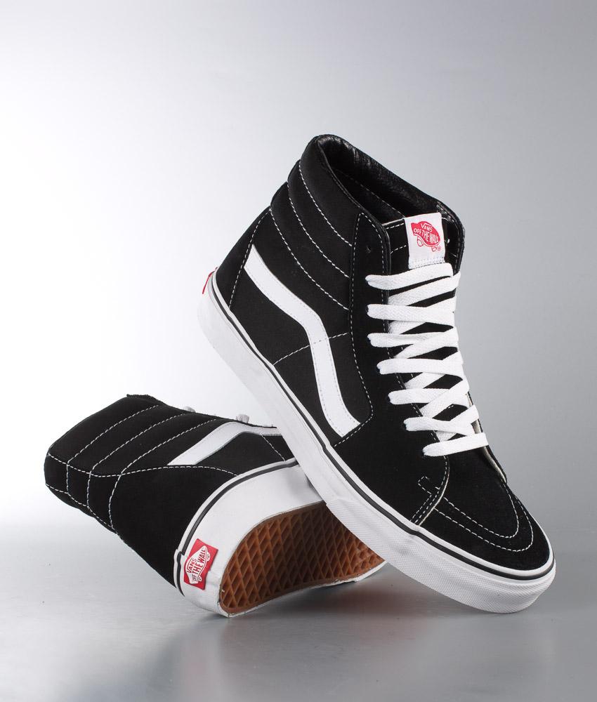 Vans Sk8 Hi Shoes BlackBlackWhite