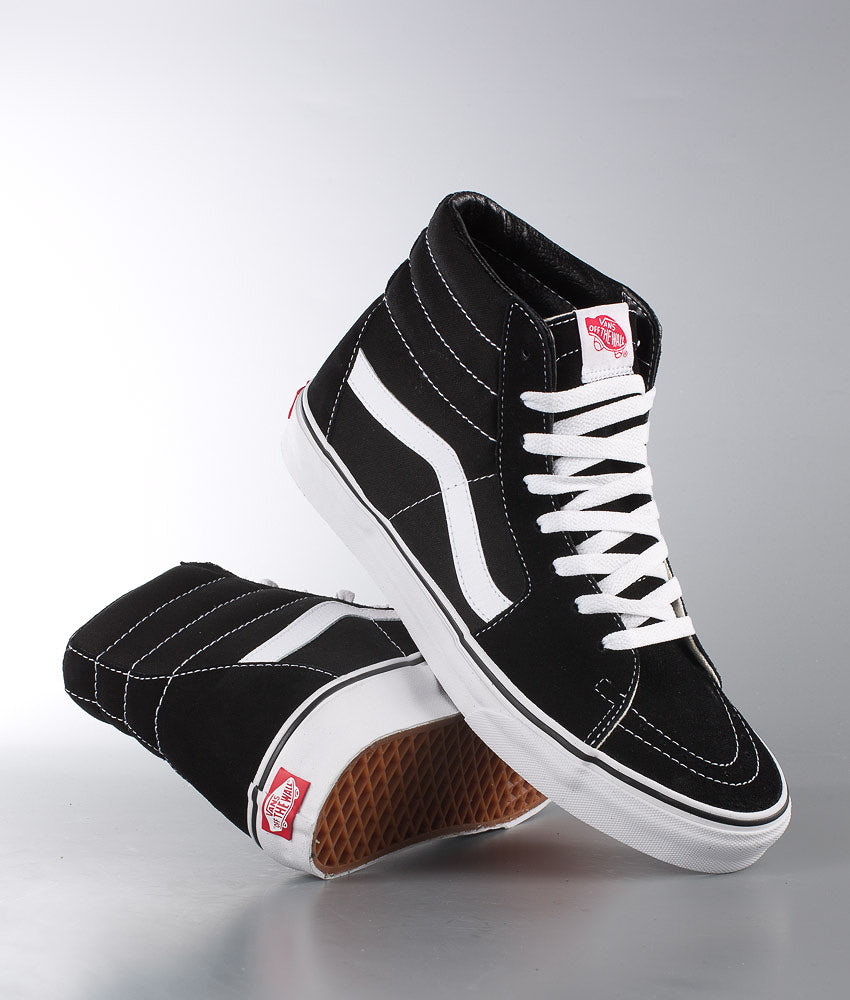 Vans Sk8-Hi Shoes Black/Black/White