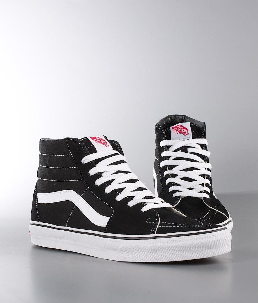 ee4ac1095d Vans Sk8-Hi Shoes Black Black White - Ridestore.com