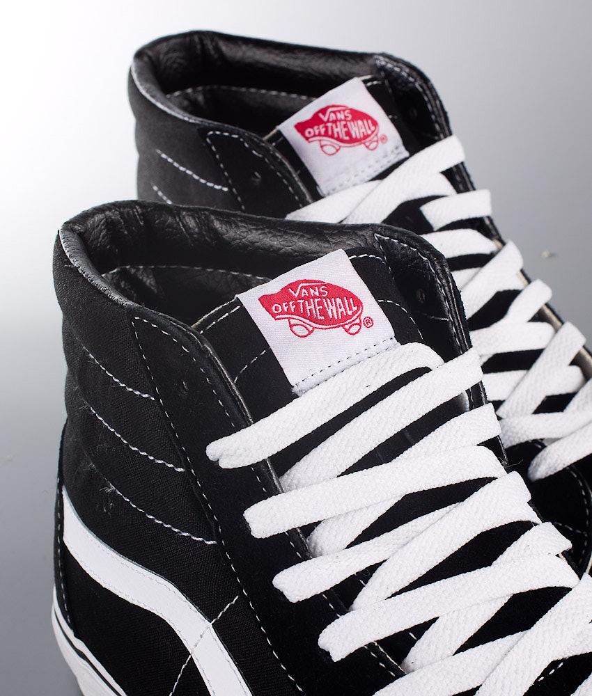 79a21d6c19 Vans Sk8-Hi Shoes Black Black White - Ridestore.com