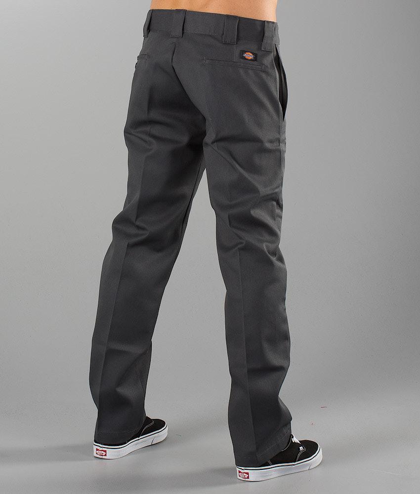 Dickies 873 Slim Straight Work Pants Charcoal Grey - Ridestore.com 38c37fa7d