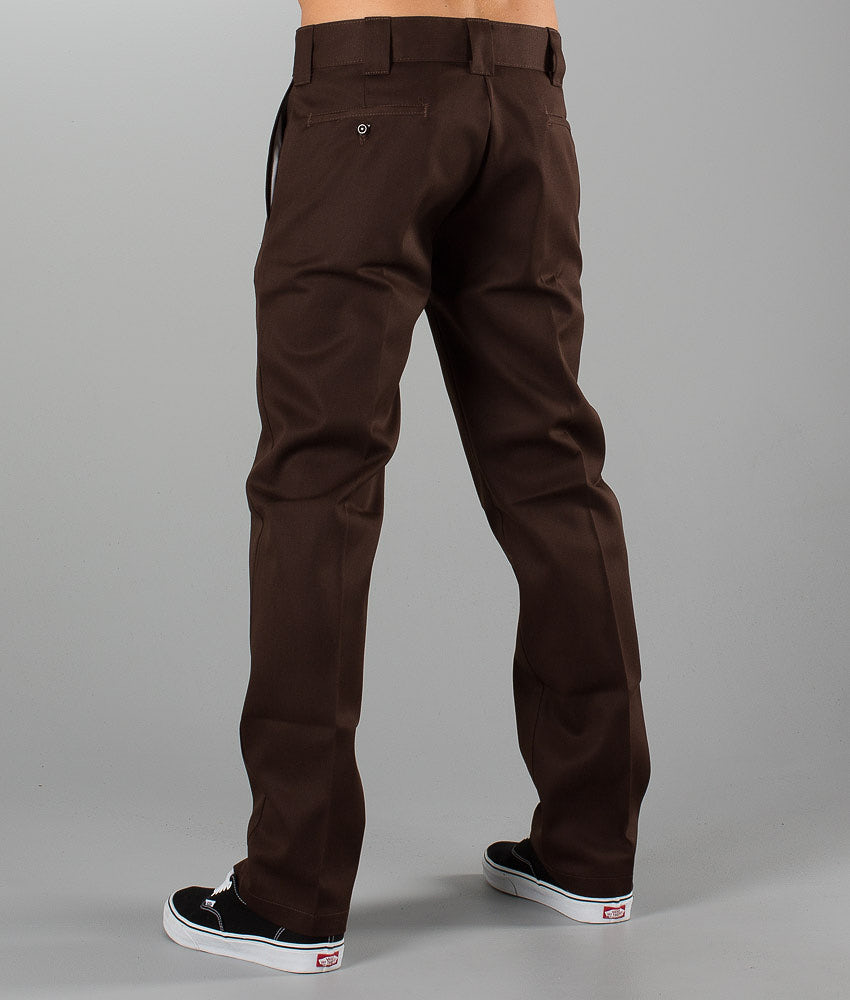 Los Angeles przytulnie świeże naprawdę wygodne Dickies Slim Straight Work Pant Pants Chocolate Brown