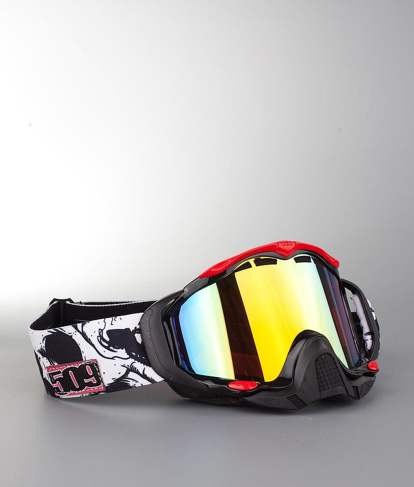 1238ac033834 509 Sinister X5 Snowmobile Goggle Skull Camo w Chrome Mirror Yellow ...