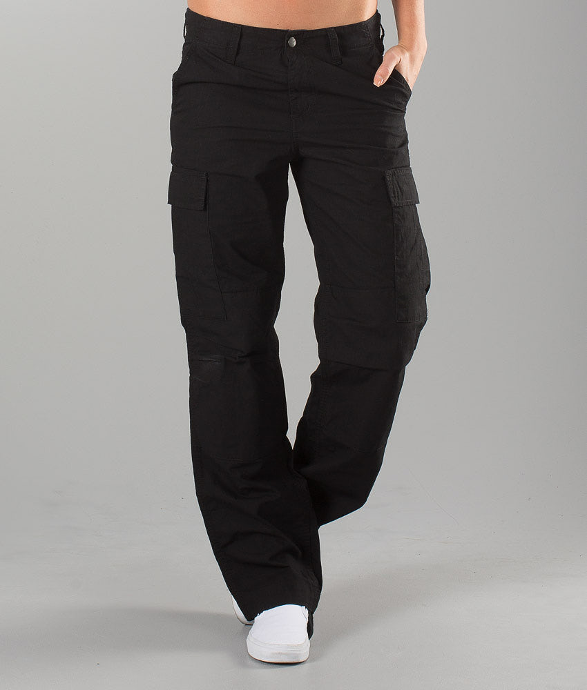 Carhartt Regular Cargo Unisex Pants Black Rinsed