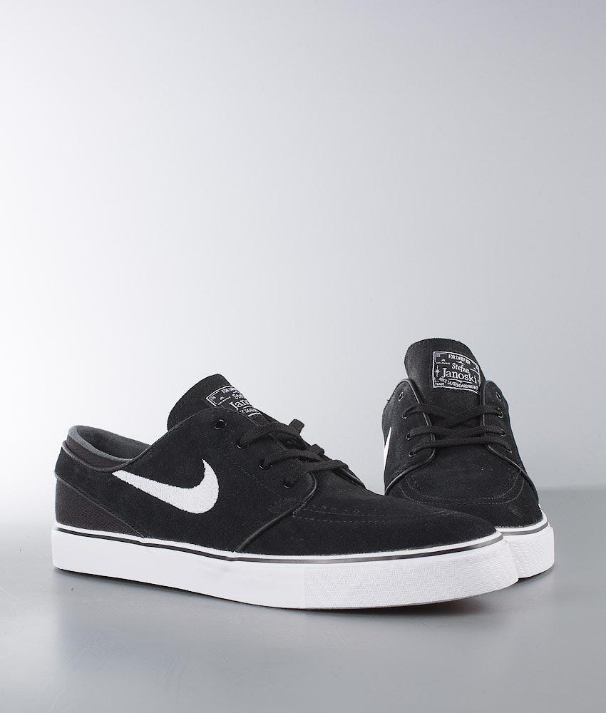 c72e57b2975 Nike Zoom Stefan Janoski Shoes Black White - Ridestore.com