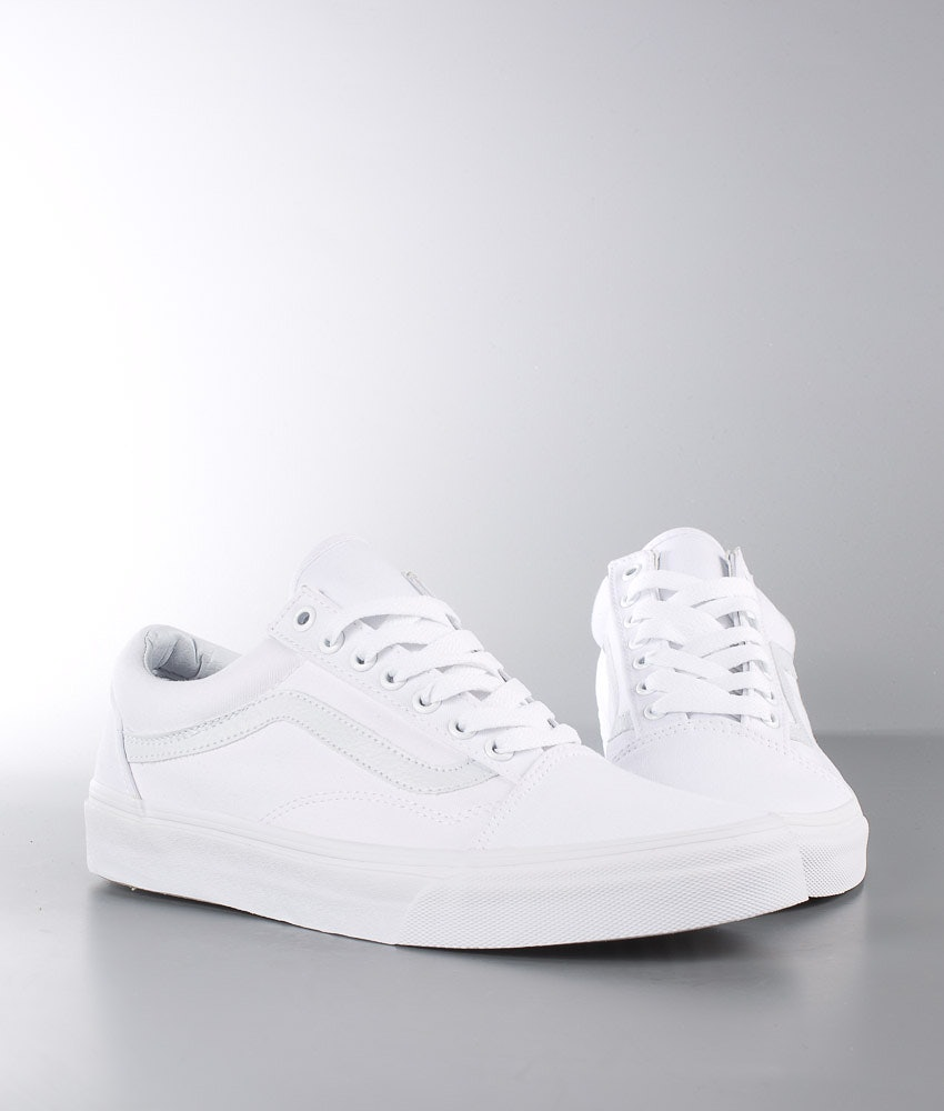 Vans Old Skool Unisex Sko Dame True White