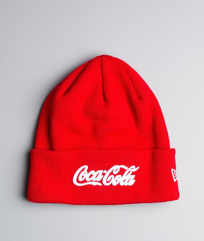 82ab6867aed New Era Coca Cola Cuff Beanie Scarlett White - Ridestore.nl
