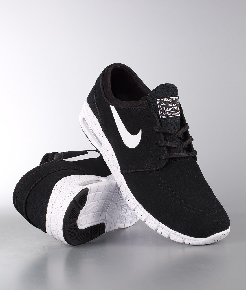 3a1c08c7eb5e Nike Stefan Janoski Max Leather Shoes Black White - Ridestore.com