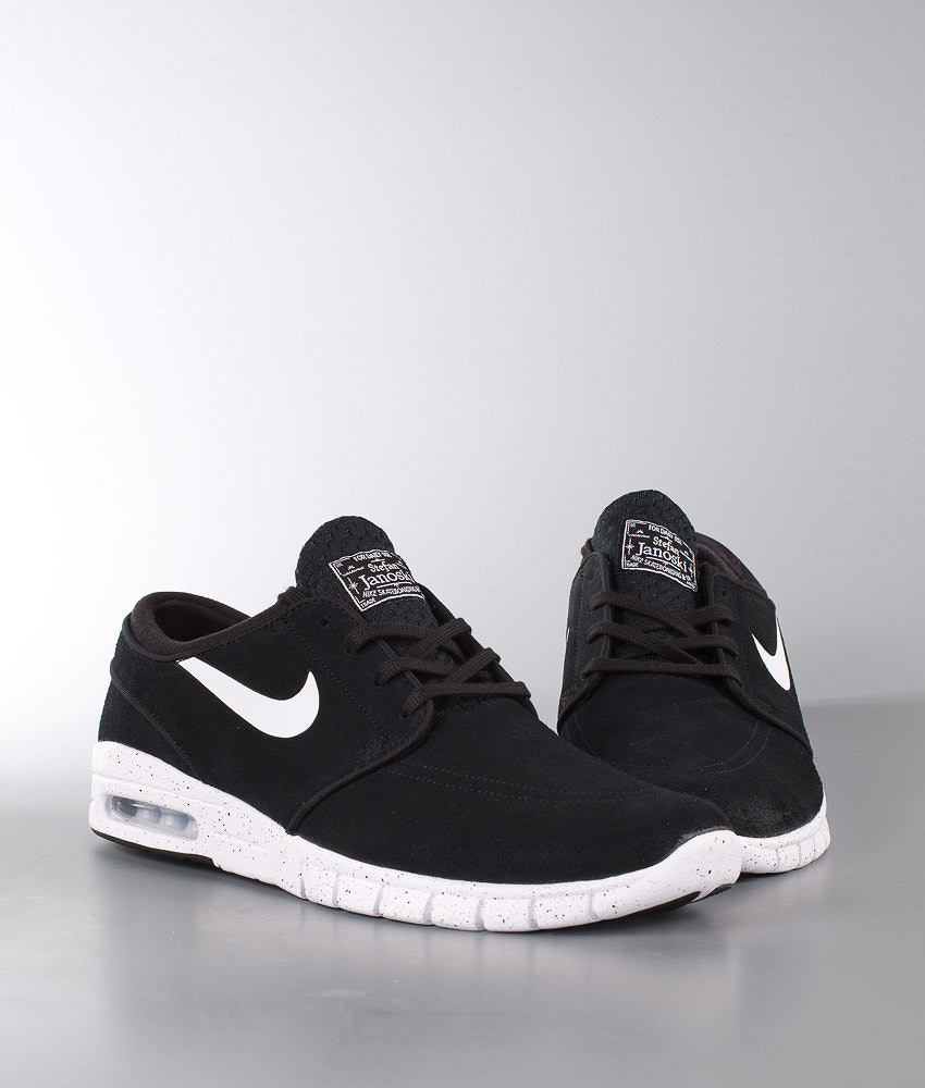 4b9898455aaad0 Nike Stefan Janoski Max Leather Shoes Black White - Ridestore.com