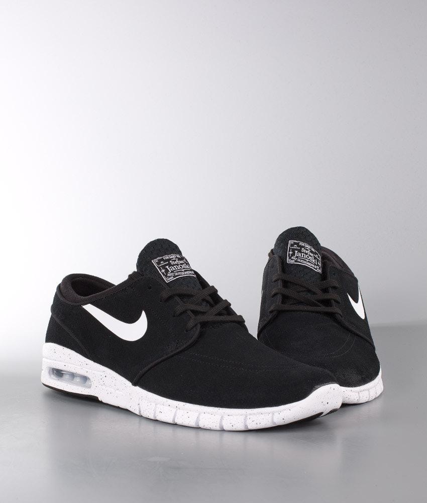 Nike Stefan Janoski Max Leather Shoes Black White - Ridestore.com 107dc1ac9