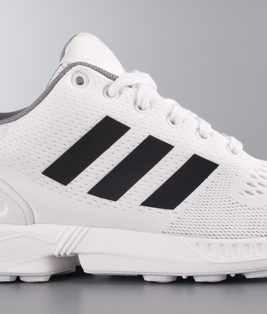 debea3a68a852 Adidas Originals ZX Flux Shoes Ftwr White Core Black Granite ...