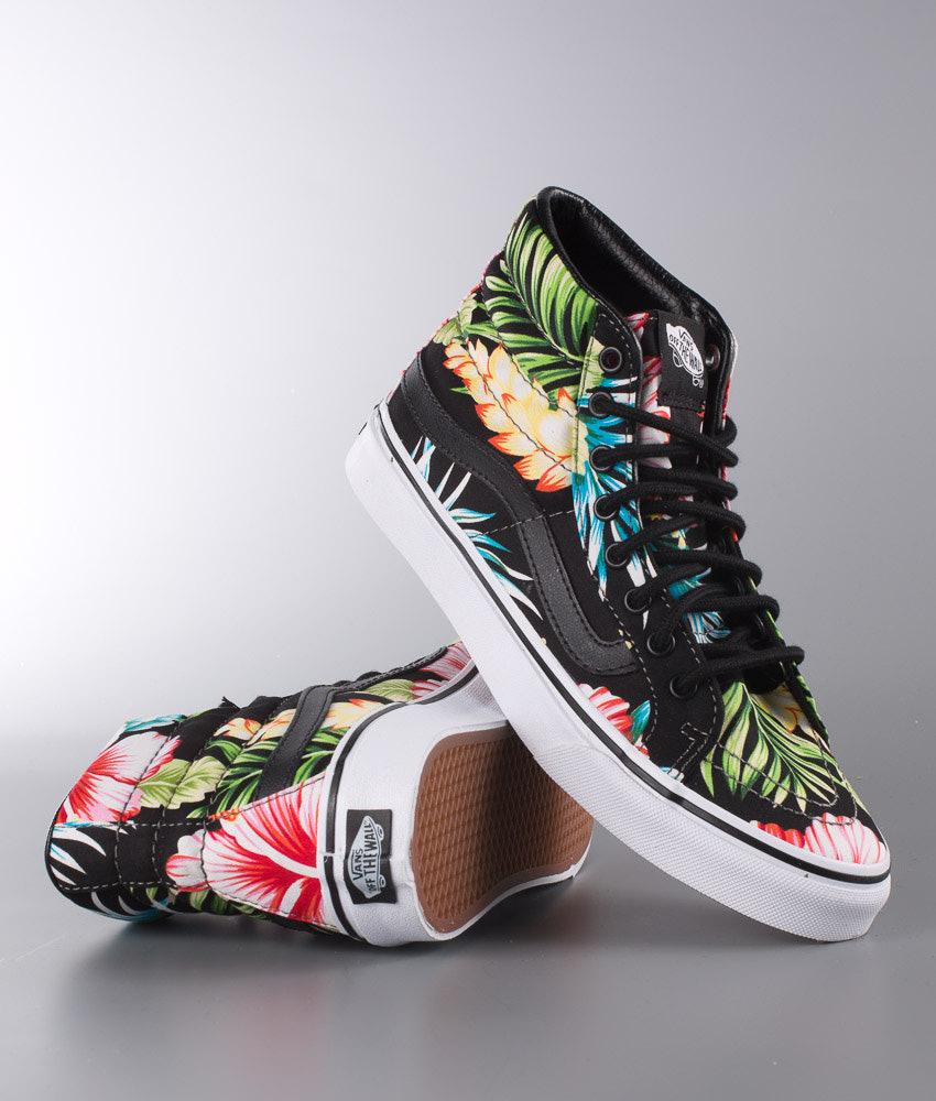 4e2a6e804f Vans Sk8-Hi Slim Shoes (Hawaiian Floral) Black - Ridestore.com