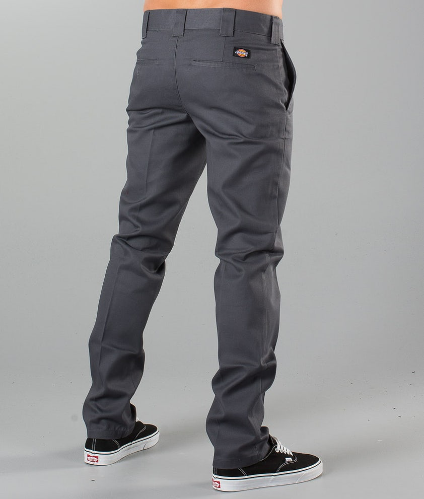 Dickies Slim Fit Work Pant Pants Charcoal Grey