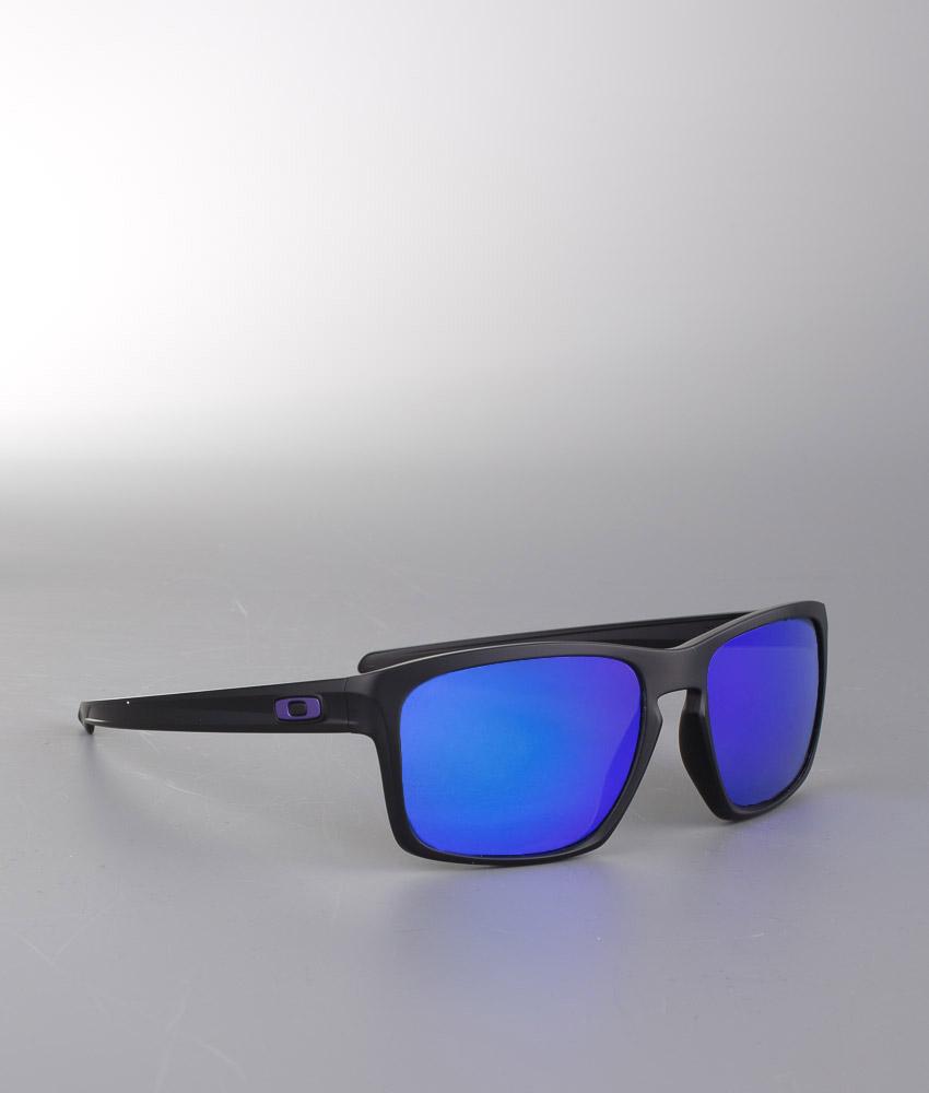 b3474934fdb6 Oakley Sliver Sunglasses Matte Black W Violet Iridium Polarized -  Ridestore.com