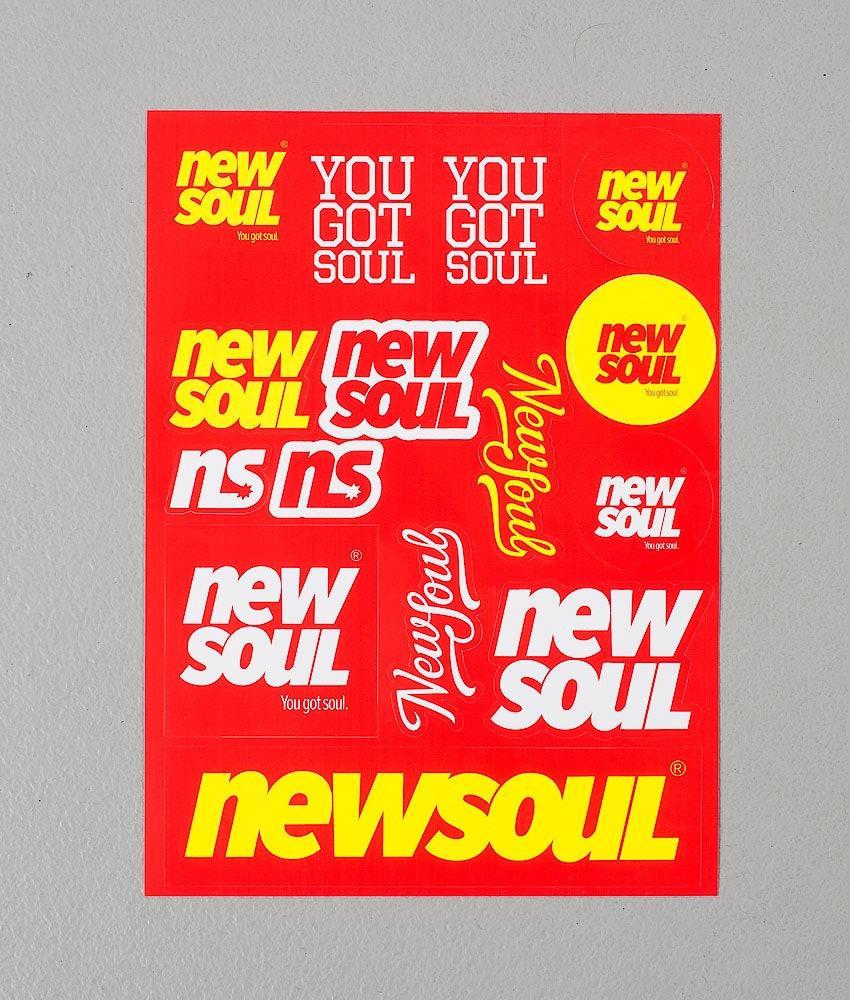 Newsoul Sticker Pack Klistermärkesark Multi