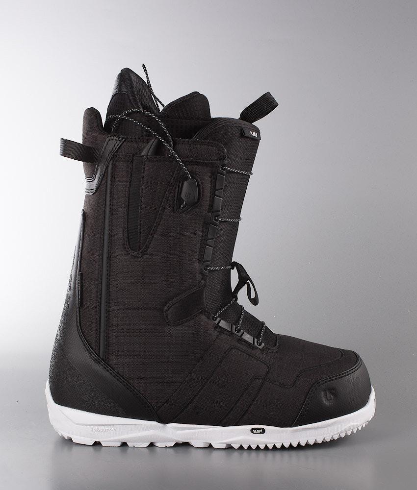 5d6583492b Burton Ambush Snowboard Boots Black White - Ridestore.com
