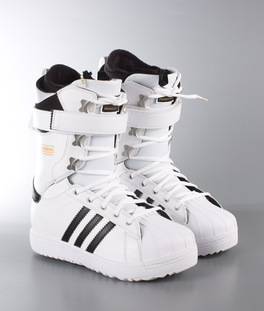 58d6d0bc7101 Adidas Originals The Superstar Snowboard Boots Ftwr White Core Black Gold  Met. - Ridestore.com