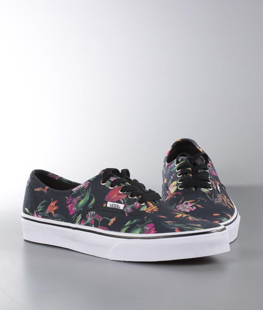 347b378474e284 Vans Authentic Shoes (Black Bloom) Black True White - Ridestore.com