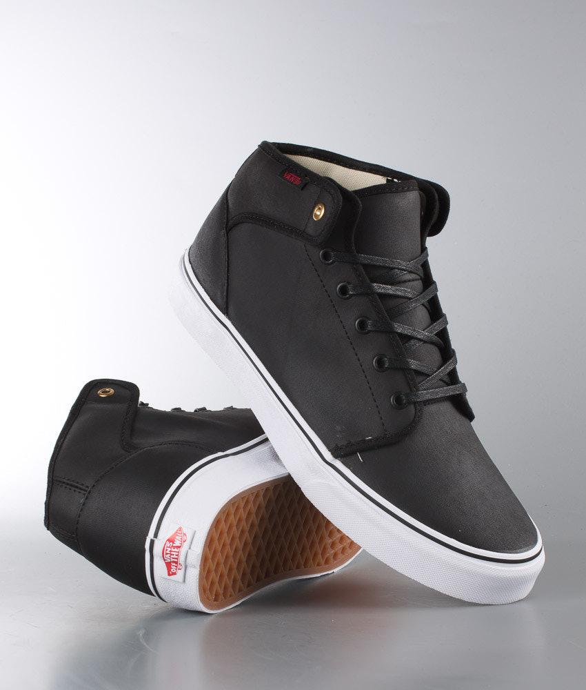 568e4a66d1cf Vans 106 Mid Shoes (Nubuck) Black - Ridestore.com