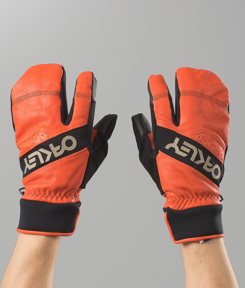 53f23835df857 Oakley Factory Winter Trigger 2 Ski Gloves Flare Orange - Ridestore.com