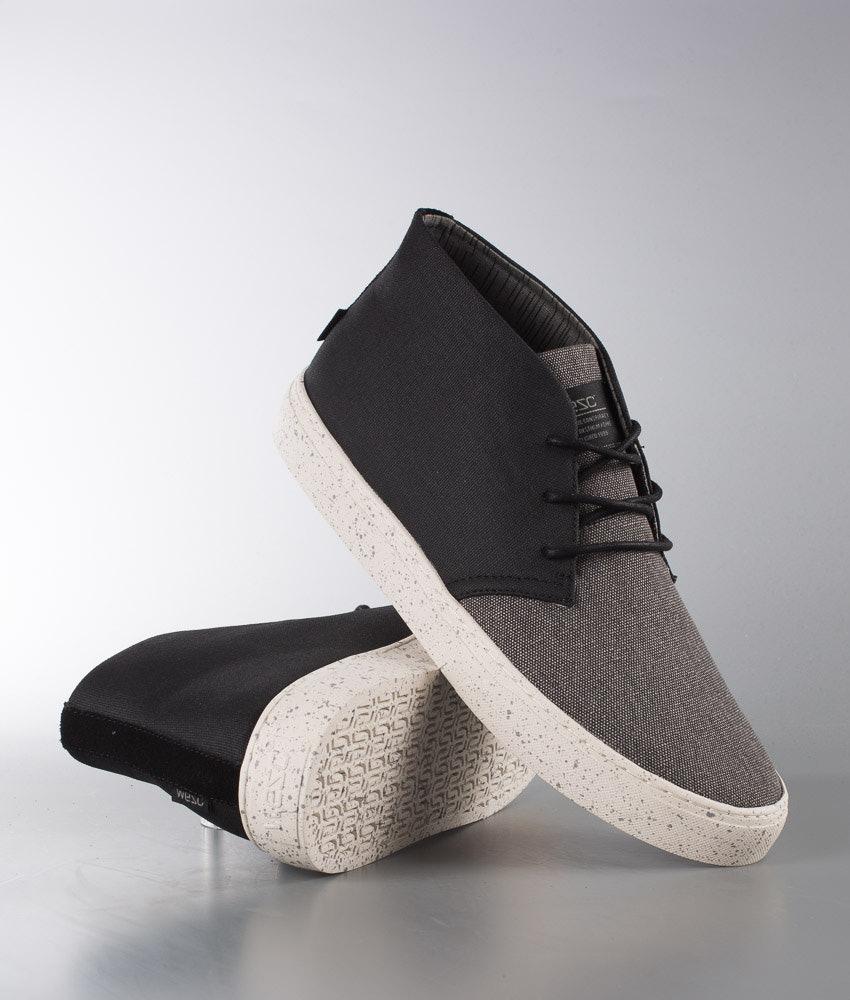 d134b4c88a22 WeSC Chukka Sneaker Mid Top Shoes Black - Ridestore.com