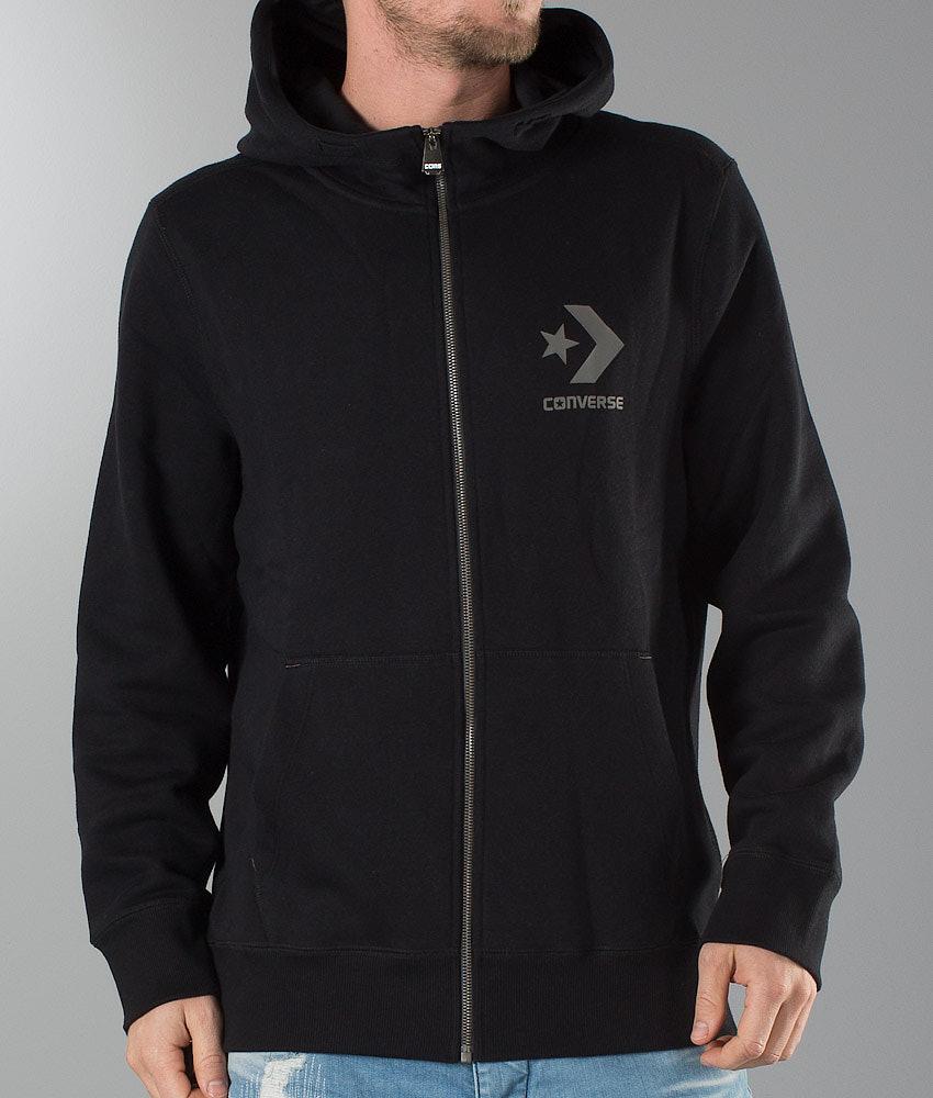 Core Zip Thru Huppari Converse Black - Ridestore.fi 8416519988