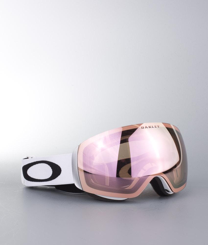 ef653c1b4a Oakley Flight Deck XM Ski Goggle Matte White w VR50 Pink Iridium ...