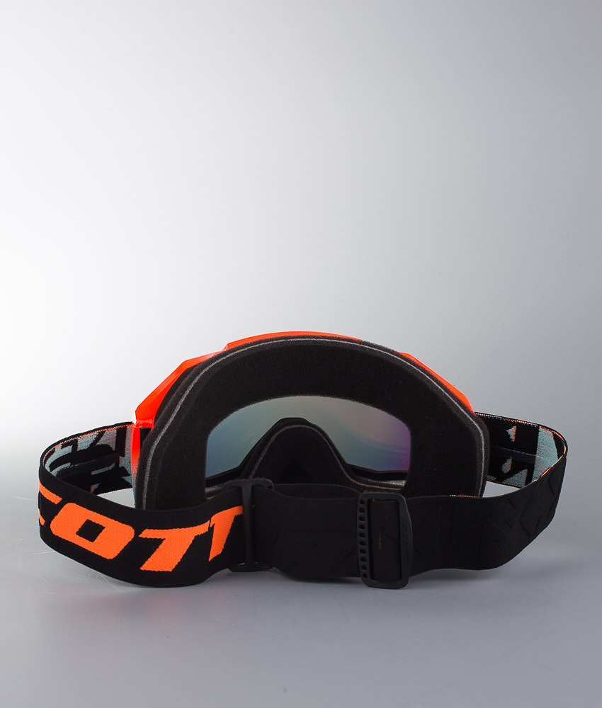 Scott Hustle Snow Cross Skoter goggles Angled Black Orange w Red ... 3dad1f4f0e8f2