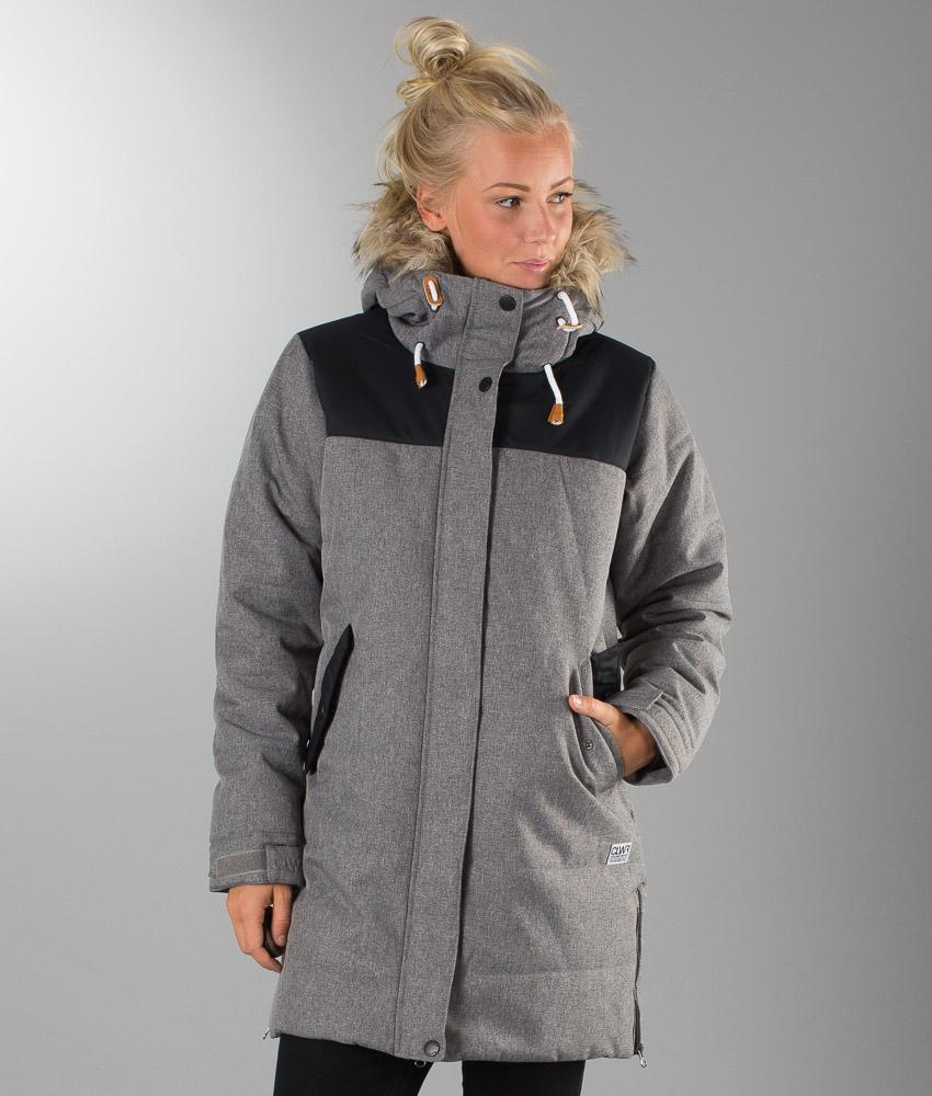 Colour wear range parka jacket black