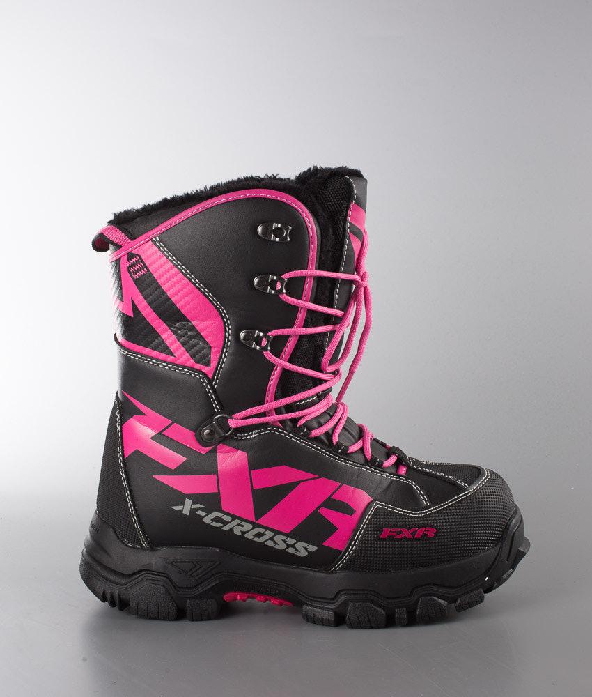 8fd36166178 FXR W's X Cross Snowmobile Boots Women's Black/Fuchsia - Ridestore.com