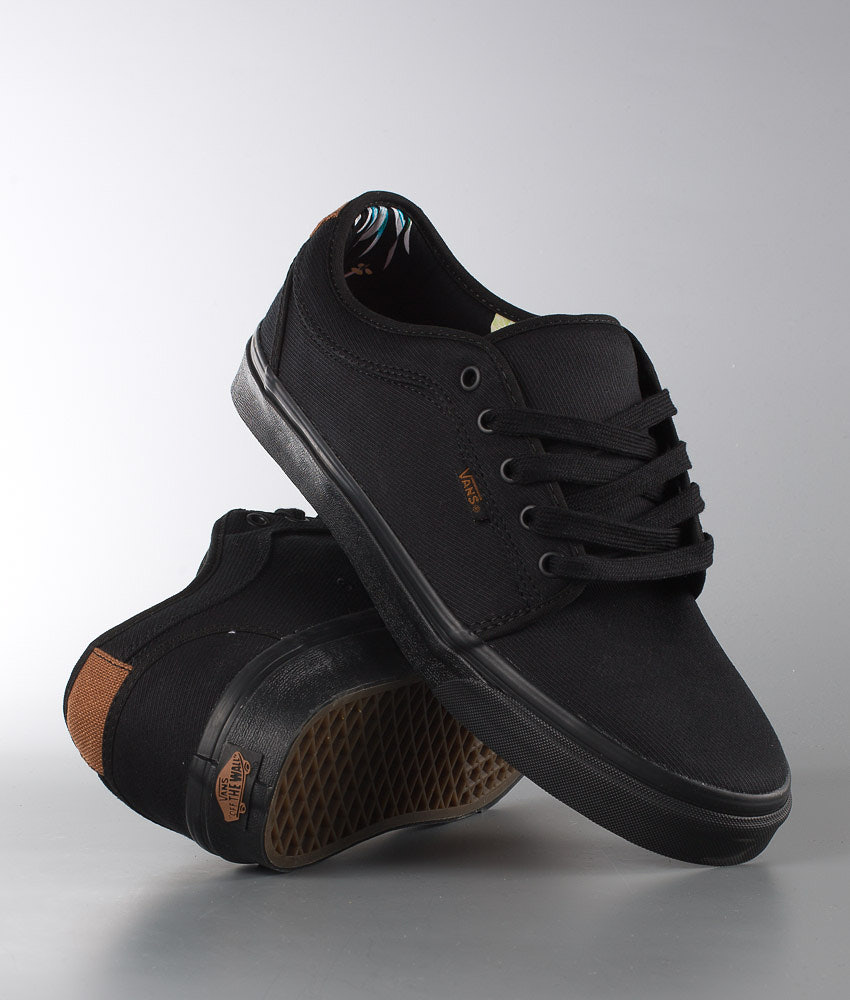 751e7db320d582 Vans Chukka Low Shoes (Aloha) Black Twill - Ridestore.com