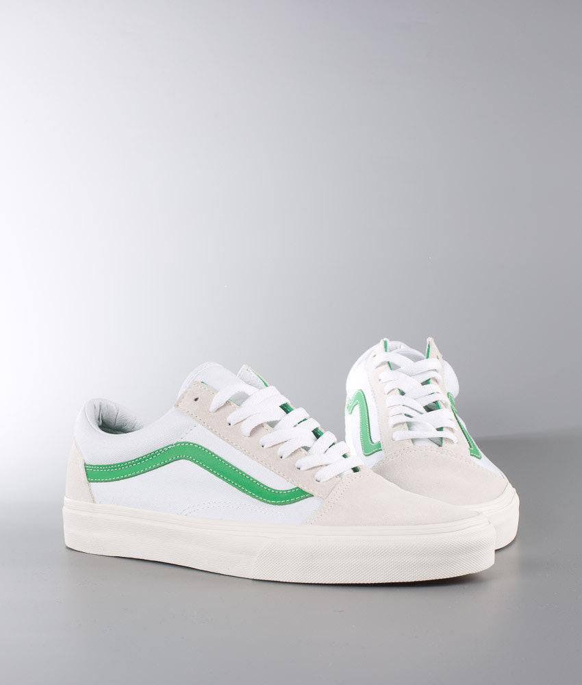 89ff59d902ec Vans Old Skool Shoes (Vintage Sport) True White Kelly Green ...