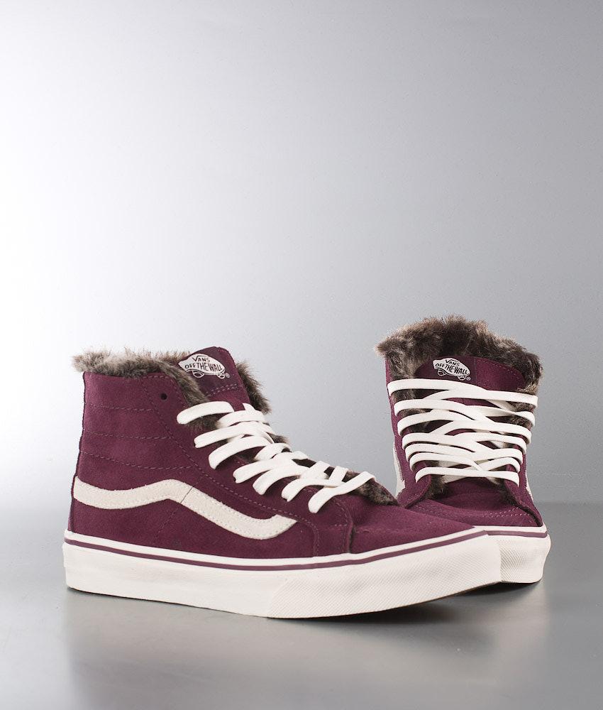 8936b230d2 Vans Sk8-Hi Slim Shoes (Fur Lining) Fig Marshmallow - Ridestore.com