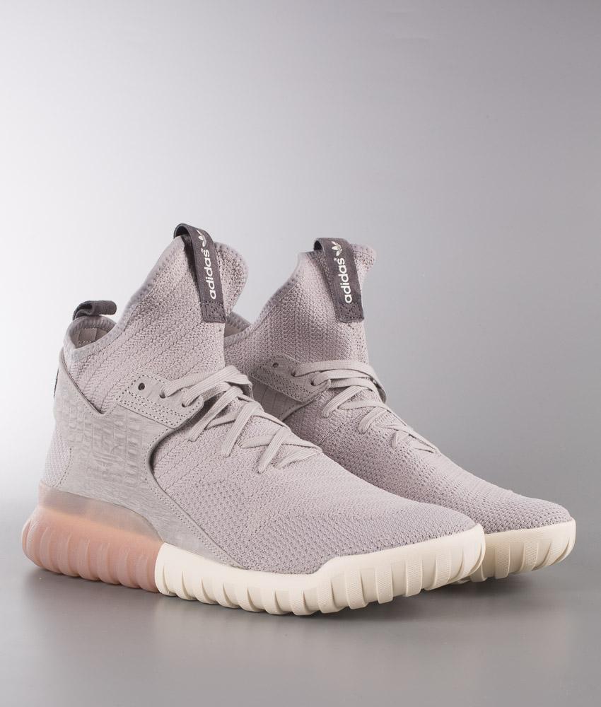Adidas Originals Tubular Primeknit X Primeknit Tubular Skor Clear Granite/Clear 8b76b4
