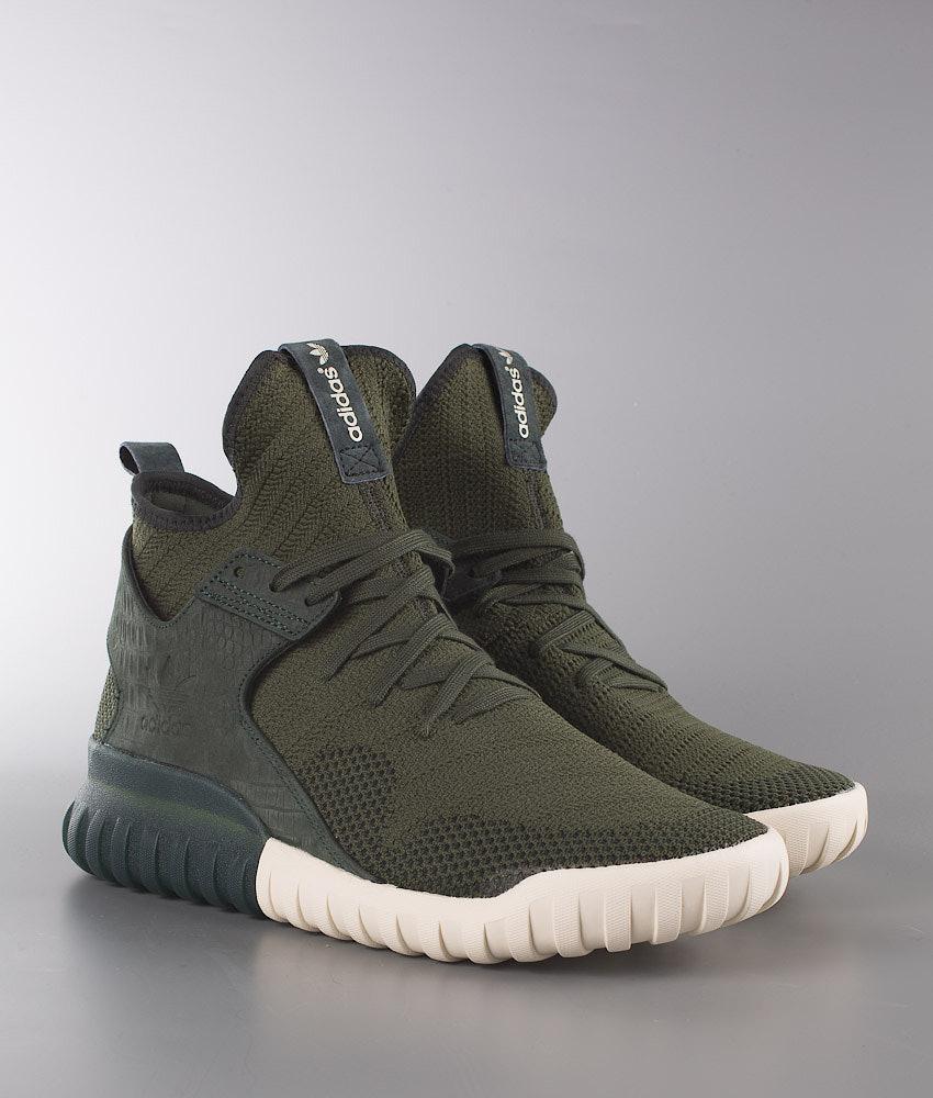 c1ac82bd0d1d8b Adidas Originals Tubular X Primeknit Sko Shadow Green Shadow Green ...
