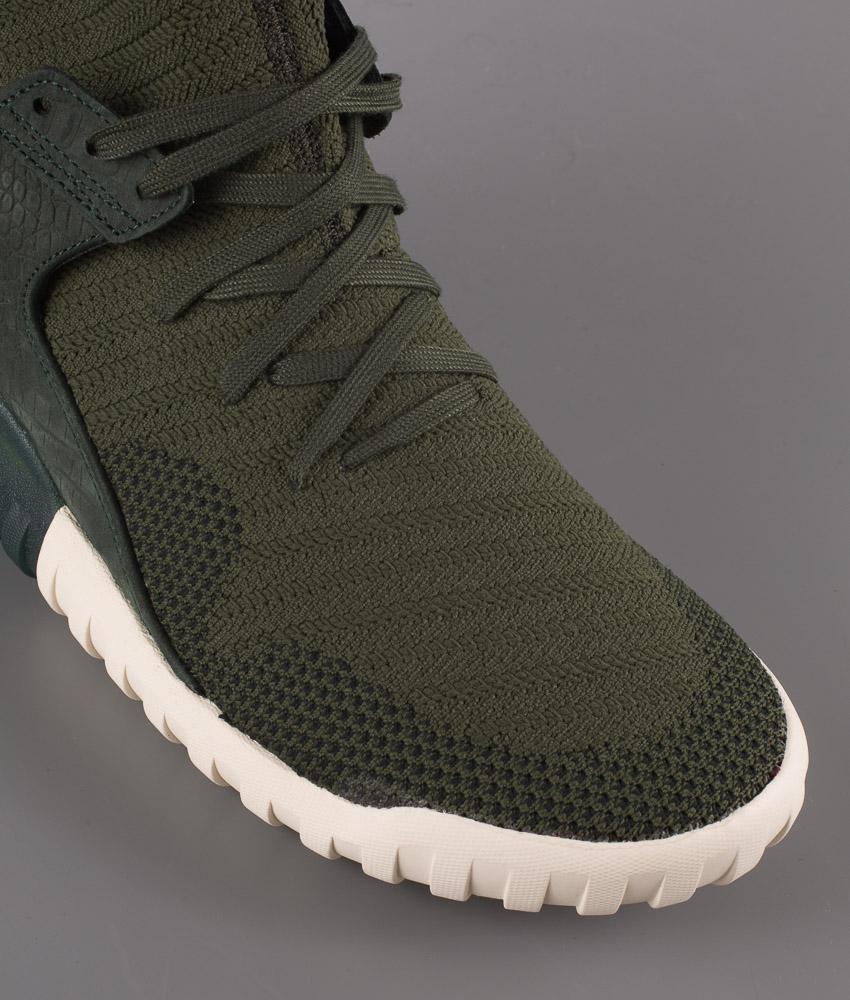 Adidas Originals Tubular X Primeknit Shoes Shadow GreenShadow GreenCream White