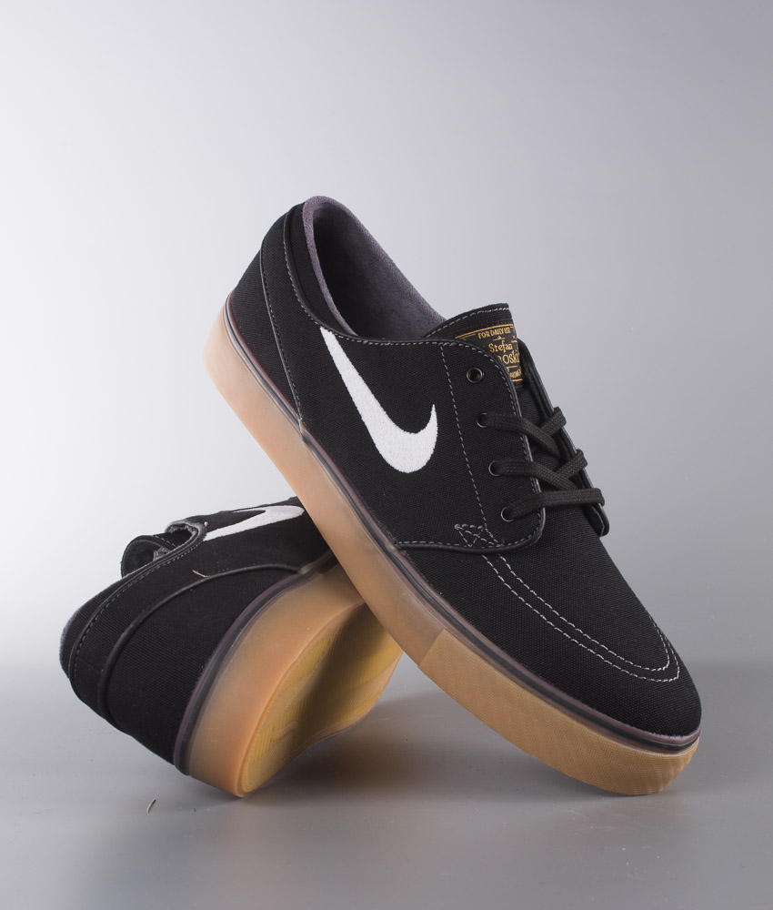 big sale b2c54 69247 ... usa nike zoom stefan janoski cnvs shoes black white metallic gold gum  light brown ridestore 746f4